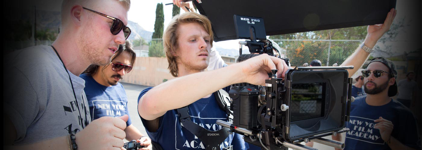 Students work with RED cameras in NYFA Miami's MFA program