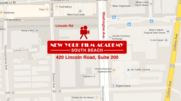 NYFA Miami's google map