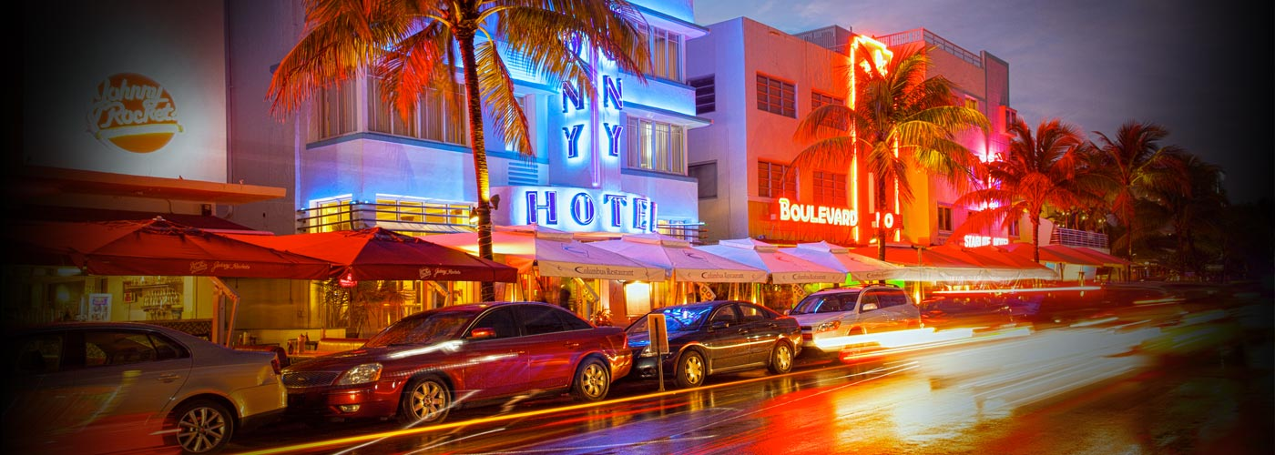 A shot of the South Beach neighborhood in Miami